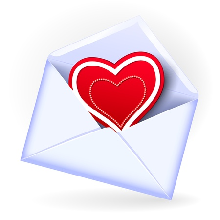 Open envelope with valentine heart Vector