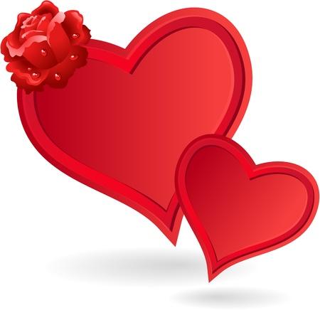 Zwei Herzen und Rosen Valentine