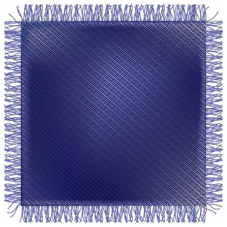 Flap threadbare jeans fabric with fringe