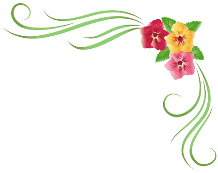 Corner floral ornament Vector