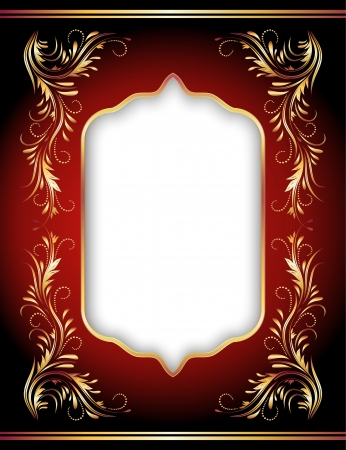 title page: Background with golden ornament and elegant frame Illustration