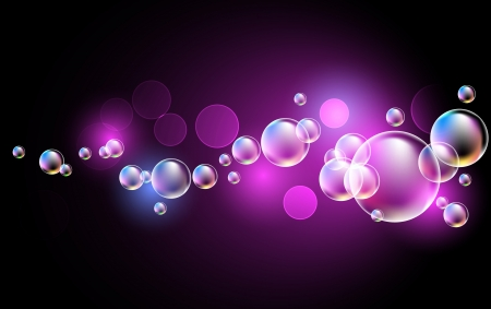 Glowing background with bubbles Vector