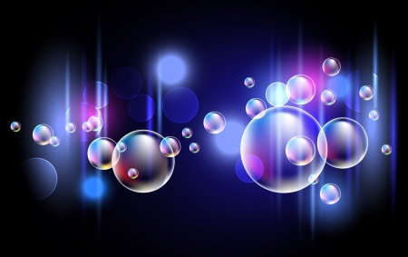 Glowing background with bubbles Stock Illustratie