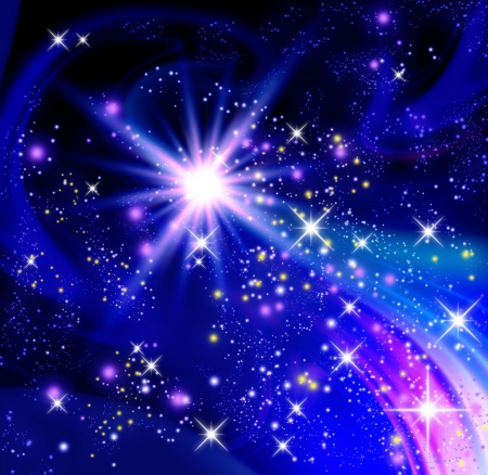 Background with glowing stars Stock Photo - 18002095