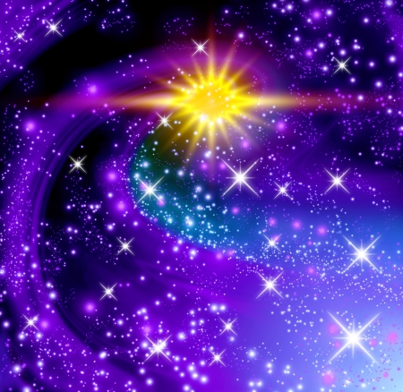 Background with glowing stars Stock Photo - 18027618