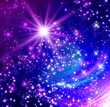 Background with glowing stars Stock Photo - 18027621