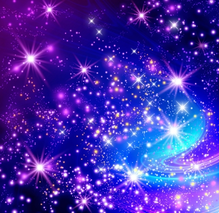 Background with glowing stars Stock Photo