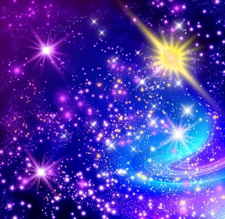 輝く星と背景