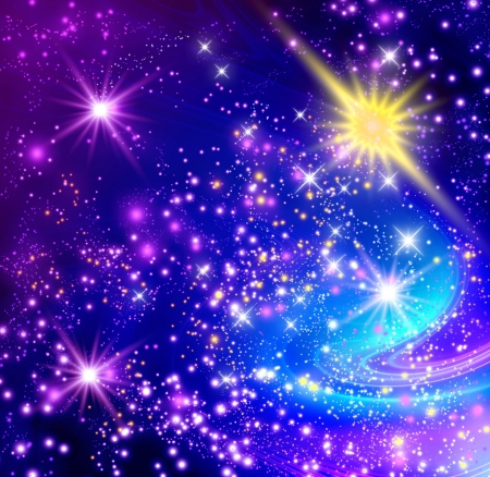 Background with glowing stars Foto de archivo