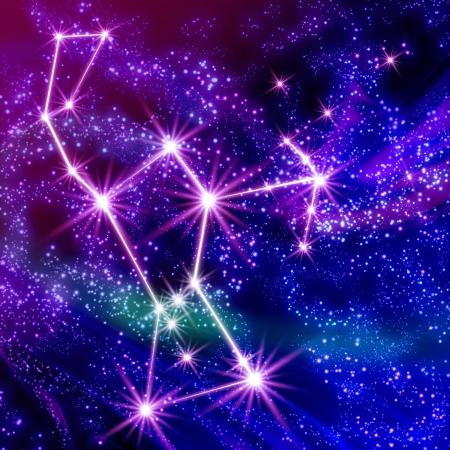 Orion constellation  in the sky Foto de archivo