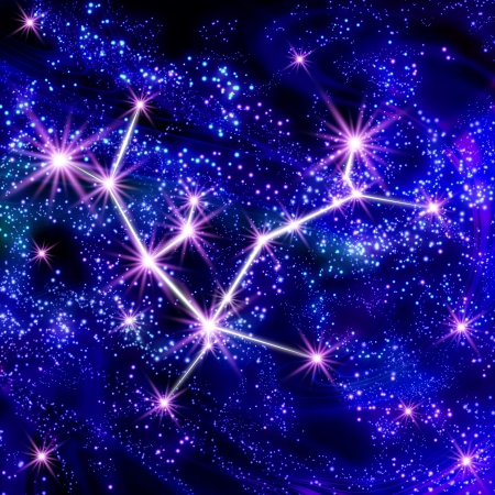 Andromeda constellation in the star sky Stock Photo - 18241590