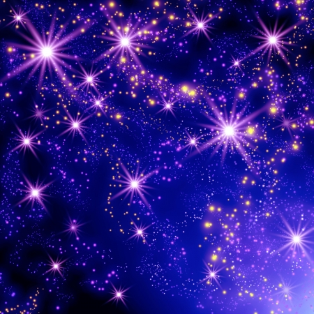 Shining stars in the space Stock Photo - 18275440