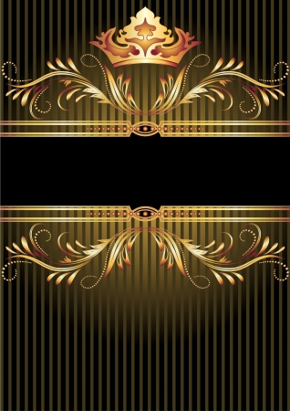 rewarding: Background with luxurious golden ornament and crown
