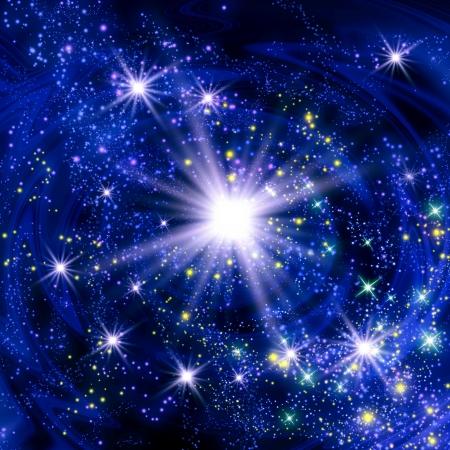 Explosion of supernova star
