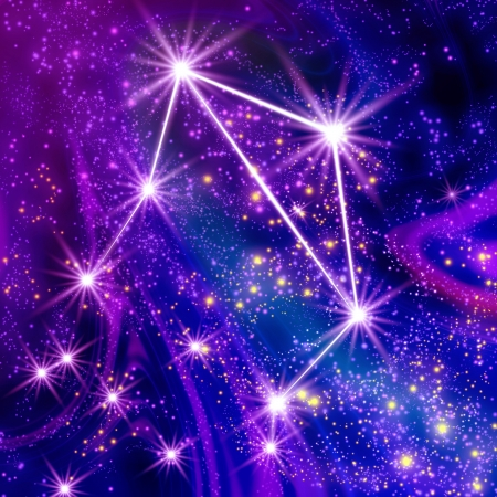 Constellation Libra in the sky Stock Photo - 18829652