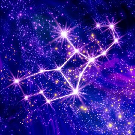 constelaciones: Constelación de Virgo en el cielo