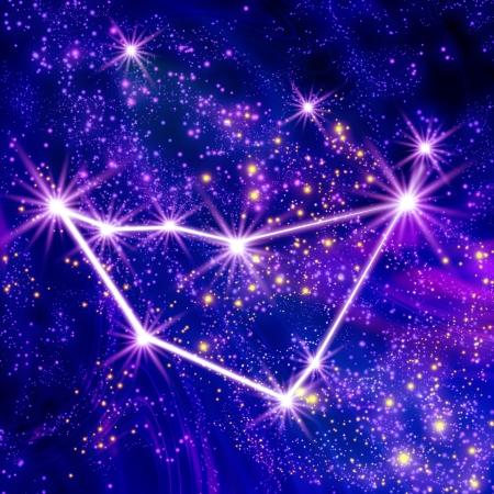 constelaciones: Constelación de Capricornio en el cielo Foto de archivo