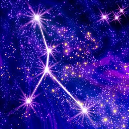constellations: Cancer constellation dans le ciel