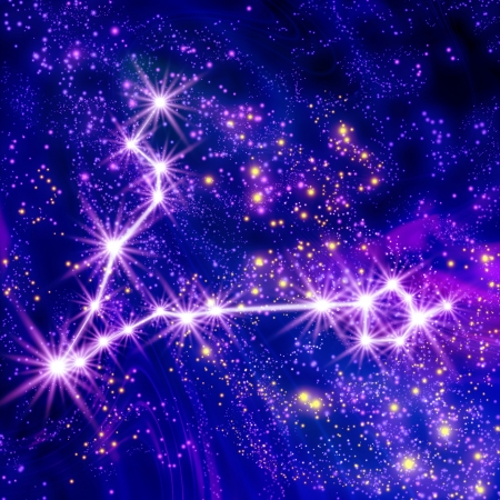 Constellation Pisces in the sky Stock Photo - 18829643