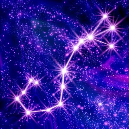 Constellation Scorpio in the sky Stock Photo - 18829657
