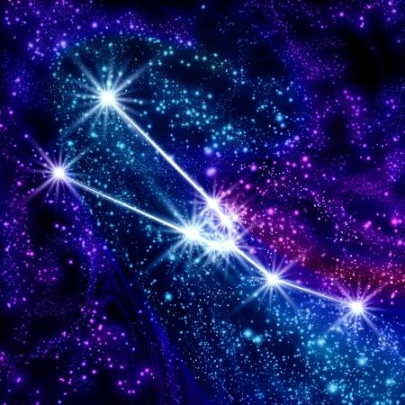 constelaciones: Constelación de Tauro en el cielo Foto de archivo