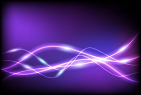 Glowing background with wave lines Vector
