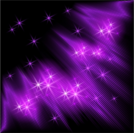 Glowing background with rays and stars