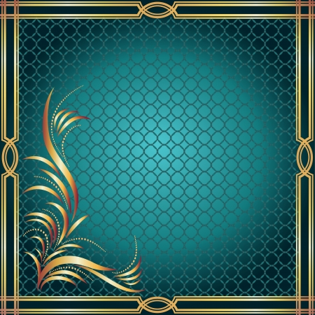 decorative border: Background with golden ornament and a place for your text Illustration