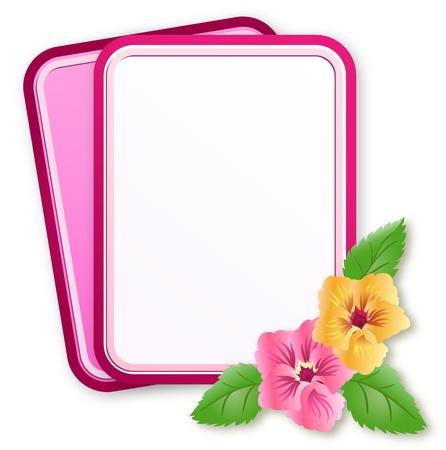 pansies: Greeting card with  pansies ornament