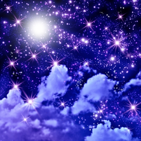 Shining stars in the space Stock Photo - 20234872