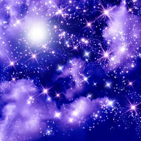 Shining stars in the space Stock Photo - 20234906