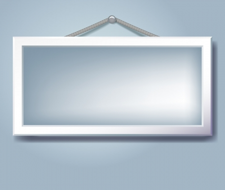 inserting: Hanging empty frame for inserting text or photo
