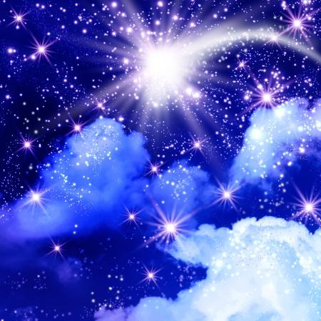 Flying comet in the sky photo