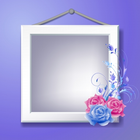 snapshot: Photo frame and floral ornament