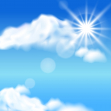 halation: Clouds and sun in the sky