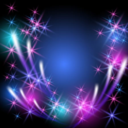 Glowing  background with firework Stock Vector - 20992063