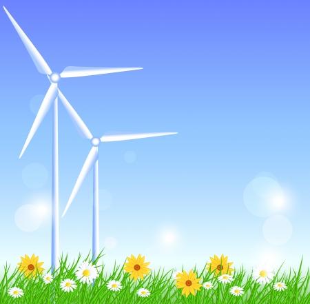 alternatively: Wind turbines in the field