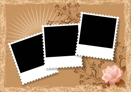 Pagina lay-out foto album met roos
