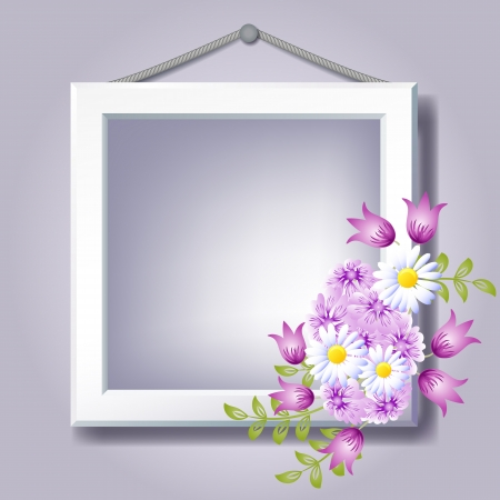 photography frame: Photo frame and floral ornament