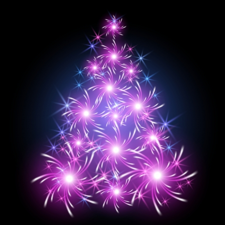 Fantastic Christmas tree Vector