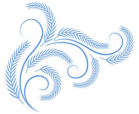 Decoratieve hoek floral ornament Stock Illustratie