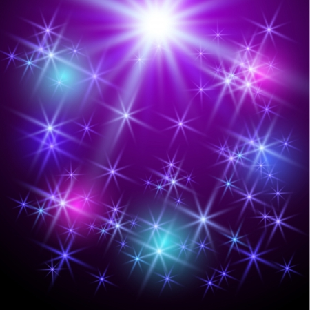 Violet background with glowing stars