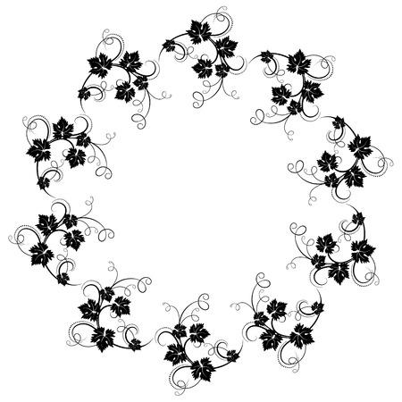 Decoratieve ronde ornament Stock Illustratie