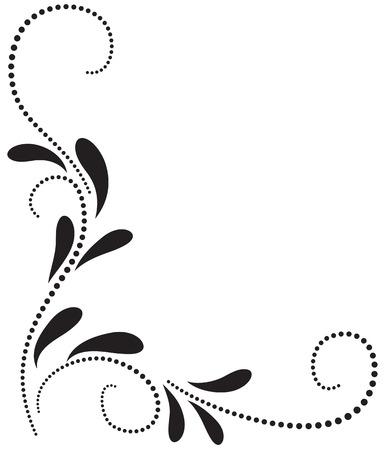 Ornamento floral Esquina decorativa Foto de archivo - 23909204