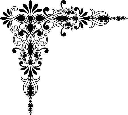 Decoratieve hoek ornament