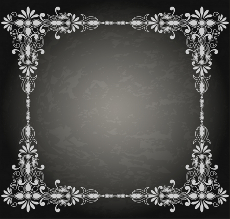 Vintage ornament frame in retro stijl