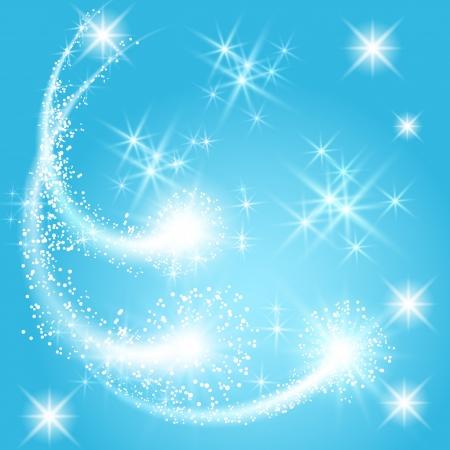 lucero: Lucir saludo y fuegos artificiales con estrellas de la chispa Vectores