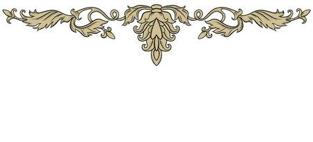 Symmetrische decoratief ornament in retro stijl