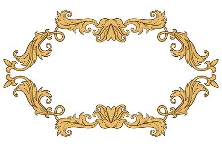 ornament frame: Vintage ornament frame in retro style