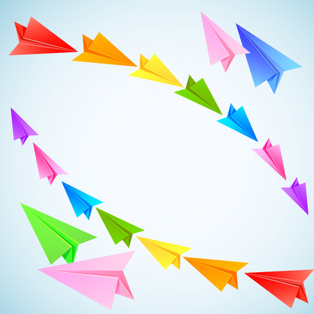 Colorful paper airplanes Vector